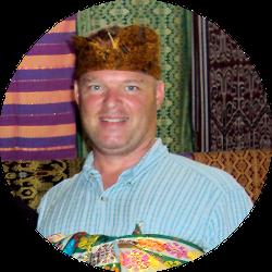 Brett in formal wear in Lombok!