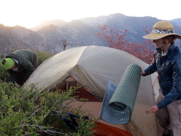 Making Camp - San Jacinto Mountains - Pacific Crest Trail