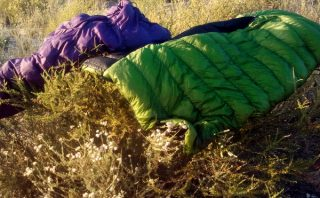 Drying Out Sleeping Bags on the PCT