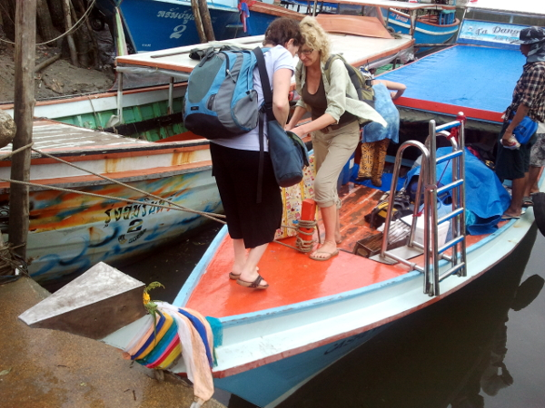 Long Tail Boat Ferry - Ranong - Thailand