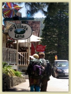 Hikers in the Big City of Idyllwild
