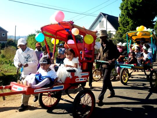 Bride and Groom Parade - Antsirabe - Madagascar