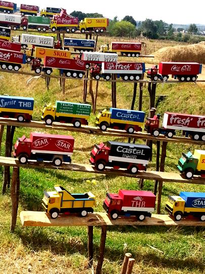 Toy Truck Roadside Stand on RN7 - Madagascar