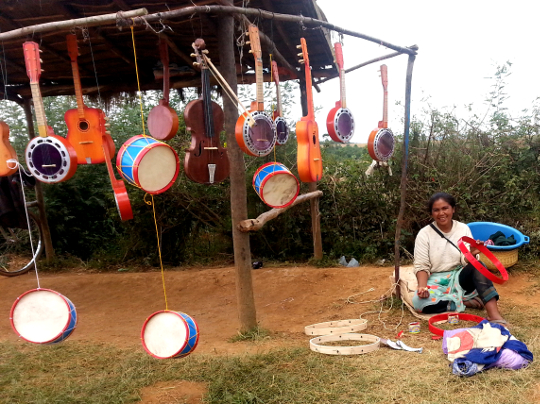 Music Instrument Roadside Stand on RN7 - Madagascar