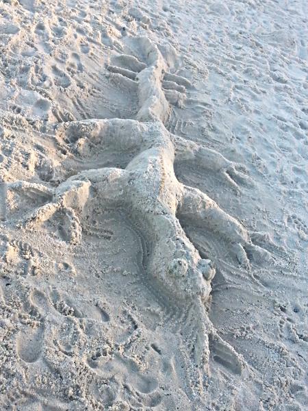 Sand Sculpture - Manambato - Madagascar