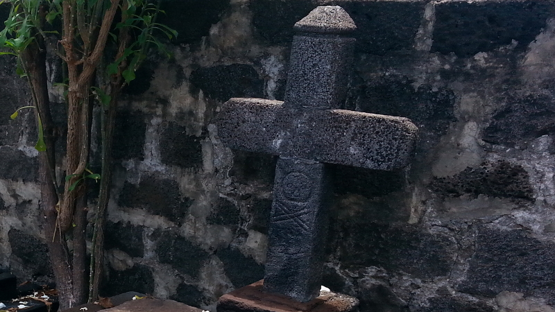 The grave of the pirate La Buse in Saint Paul, Réunion.