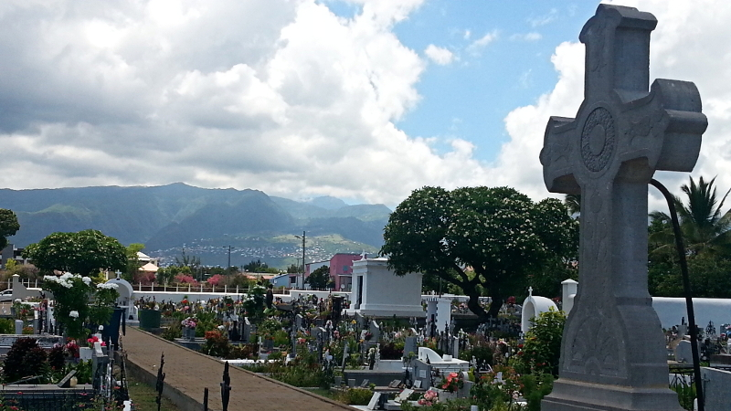 The Cimetière Marin du Port in Saint Paul, Réunion.