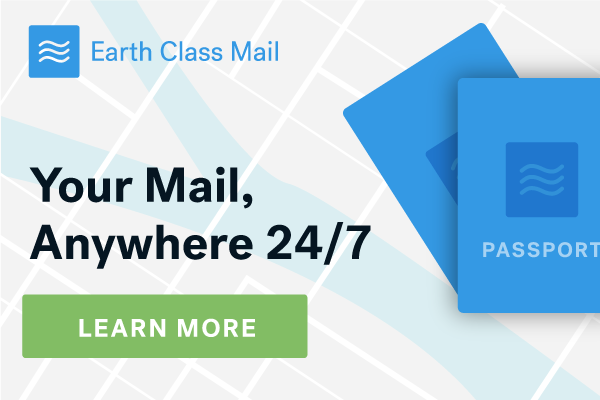 Earth Class Mail for Travelers and Expats!