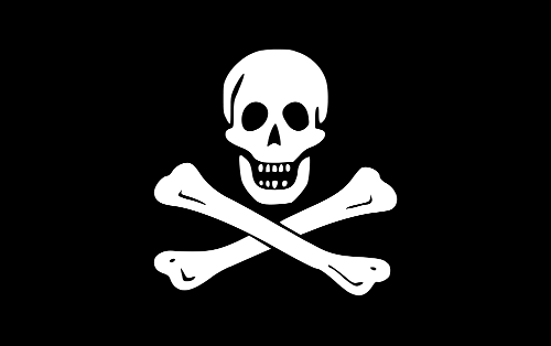 The pirate flag of Edward England and John Taylor known as the Jolly Roger.